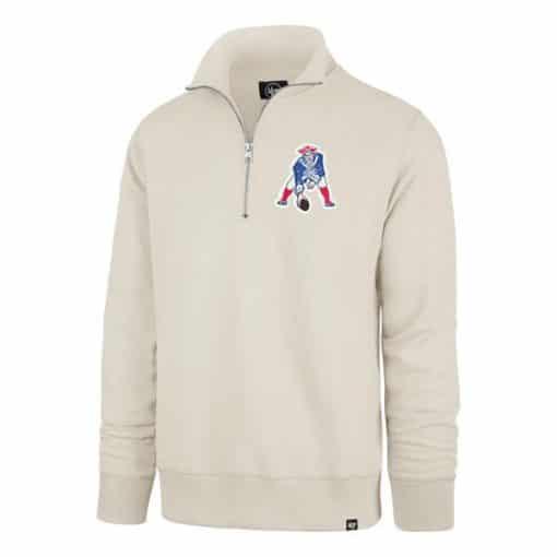 New England Patriots Men's 47 Brand Dune Classic 1/4 Zip Pullover