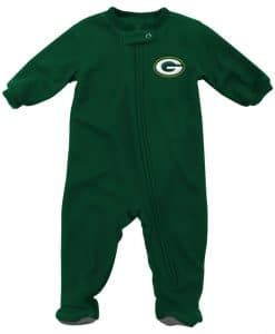 Green Bay Packers Baby Green Zip Up Blanket Sleeper Coverall