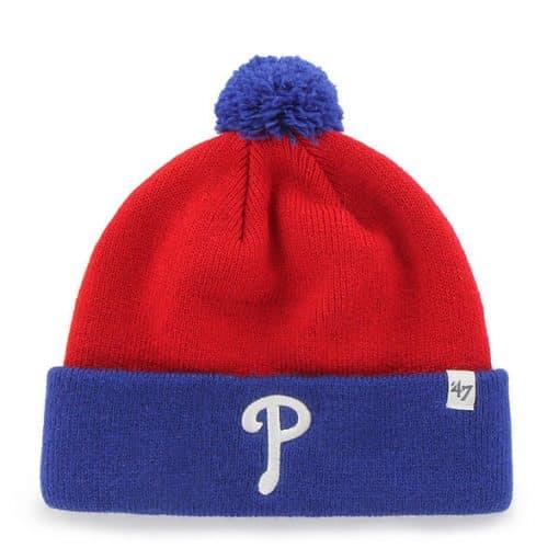 Philadelphia Phillies TODDLER 47 Brand Blue Red Bam Bam Cuff Knit Hat