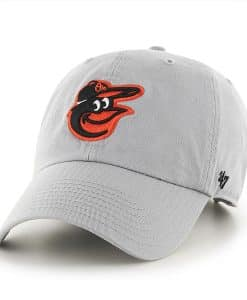 Baltimore Orioles 47 Brand Storm Gray Clean Up Adjustable Hat
