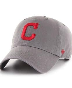 Cleveland Indians 47 Brand Dark Gray Clean Up Adjustable Hat