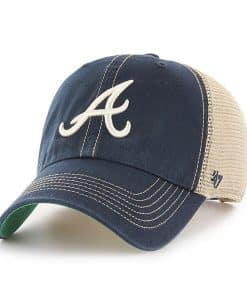 Atlanta Braves 47 Brand Trawler Navy Clean Up Mesh Adjustable Hat