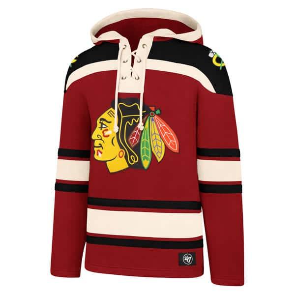 Chicago Blackhawks Men's 47 Brand Red Vintage Pullover Jersey ...