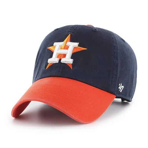 Houston Astros 47 Brand Navy Orange Clean Up Adjustable Hat