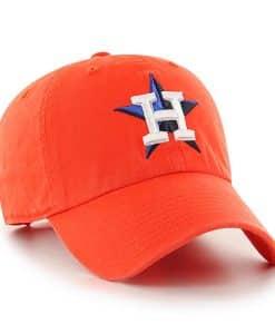 Houston Astros 47 Brand Orange Clean Up Adjustable Hat