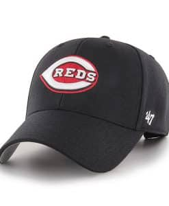 Cincinnati Reds 47 Brand Black MVP Reds Adjustable Hat