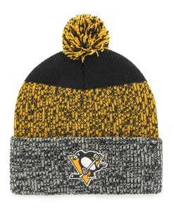 Pittsburgh Penguins 47 Brand Black Static Cuff Knit Hat