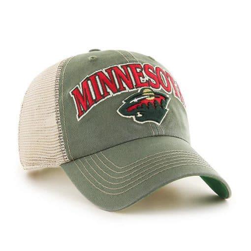 Minnesota Wild 47 Brand Green Tuscaloosa Clean Up Adjustable Hat