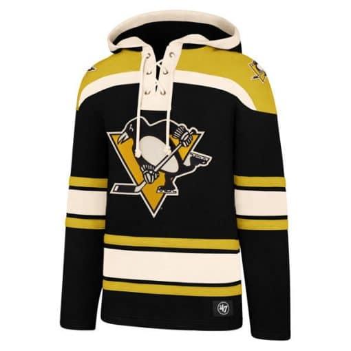 Pittsburgh Penguins Men's 47 Brand Black Pullover Jersey Hoodie