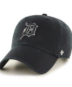 Detroit Tigers 47 Brand Black White Clean Up Adjustable Hat