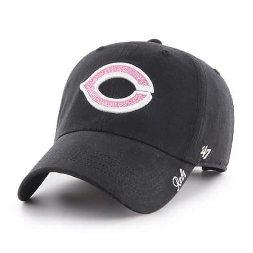Cincinnati Reds Women's 47 Brand Black Miata Clean Up Adjustable Hat