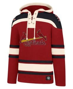 St. Louis Cardinals Men's 47 Brand Red Pullover Jersey Hoodie