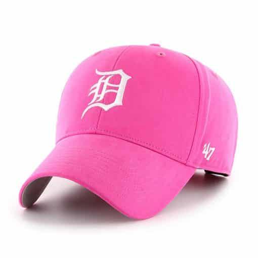 Detroit Tigers KIDS Girls 47 Brand Bright Pink MVP Adjustable Hat