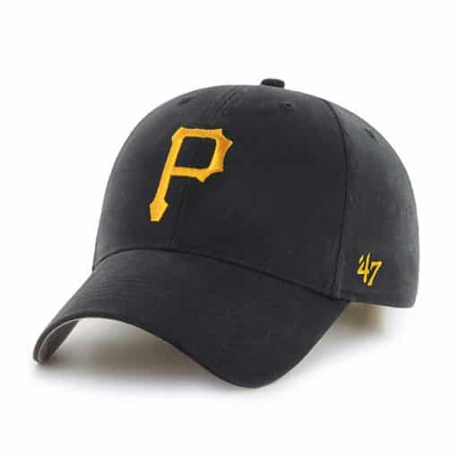 Pittsburgh Pirates KIDS 47 Brand Black MVP Adjustable Hat