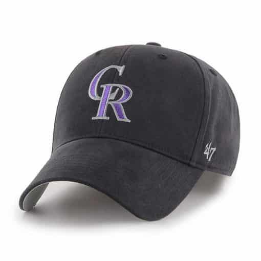 Colorado Rockies KIDS 47 Brand Black MVP Adjustable Hat