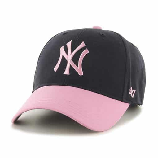 New York Yankees INFANT 47 Brand Baby Girls Navy Pink Stretch Fit Hat