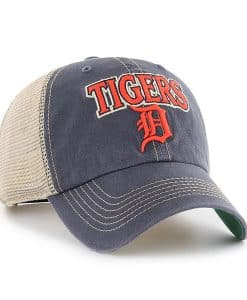 Detroit Tigers 47 Brand Tuscaloosa Vintage Navy Clean Up Adjustable Hat