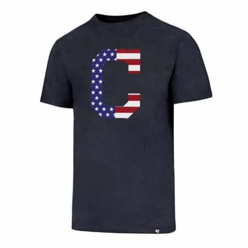 Cleveland Indians Men's 47 Brand Red White & Blue Club T-Shirt Tee