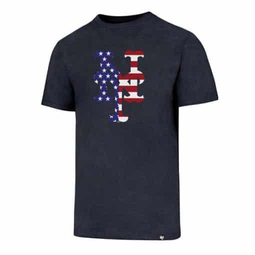 New York Mets Men's 47 Brand Red White & Blue Club T-Shirt Tee