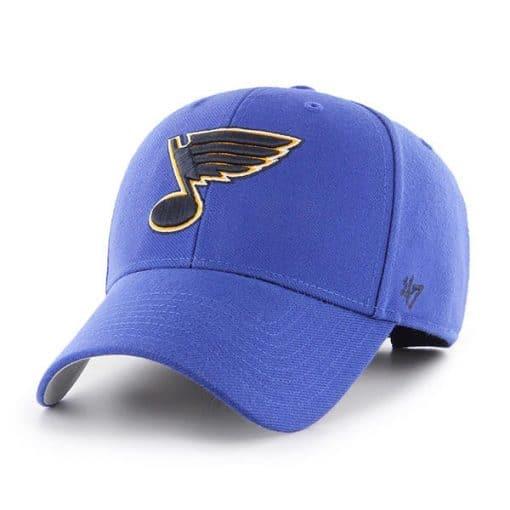 St Louis Blues 47 Brand Royal MVP Clean Up Adjustable Hat