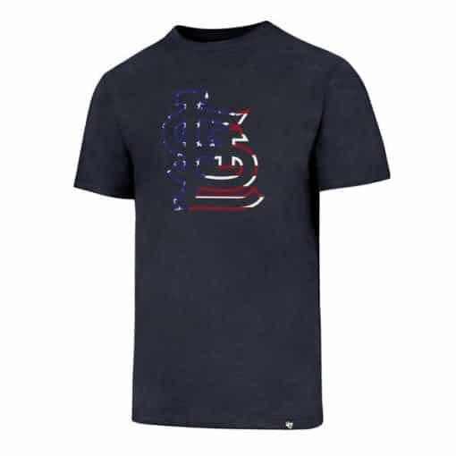 St. Louis Cardinals Men's 47 Brand Red White & Blue Club T-Shirt Tee