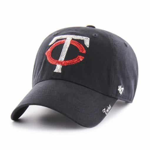 Minnesota Twins Women's 47 Brand Sparkle Navy Clean Up Hat