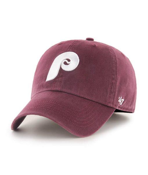 Philadelphia Phillies 47 Brand Dark Maroon Franchise Fitted Hat