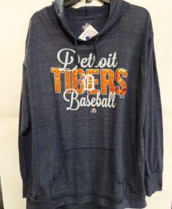Detroit Tigers XL Women's Majestic Navy Baseball Hoodie
