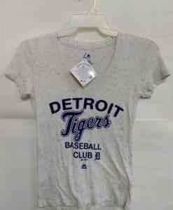 Detroit Tigers Women's Majestic Confetti Baseball Club T-Shirt Tee
