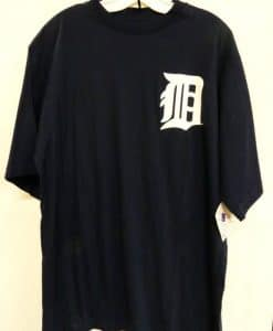 Detroit Tigers Majestic Navy LARGE TALL T-Shirt Tee