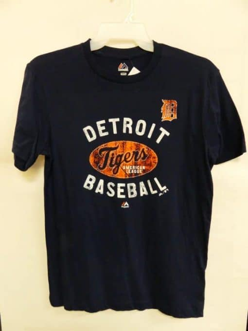 Detroit Tigers Majestic Navy American League T-Shirt Tee