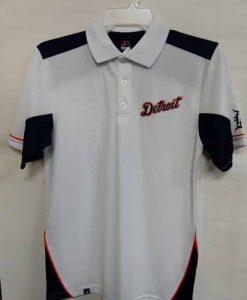 Detroit Tigers Majestic White Navy Polo Shirt