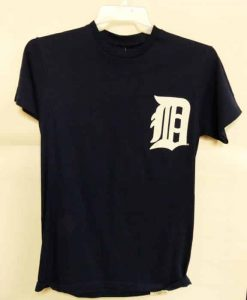 Detroit Tigers Majestic Navy Victor Martinez Number T-Shirt Tee