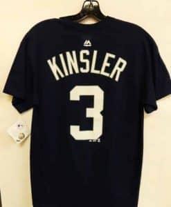 Detroit Tigers Navy Ian Kinsler Number T-Shirt Tee