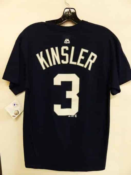 Detroit Tigers Navy Ian Kinsler Number T-Shirt Tee