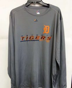 Detroit Tigers Majestic Gray Long Sleeve Shirt