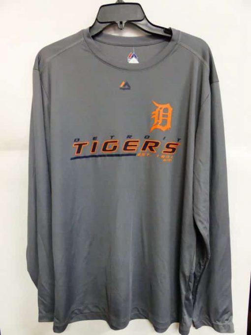 Detroit Tigers Majestic Gray Long Sleeve Shirt