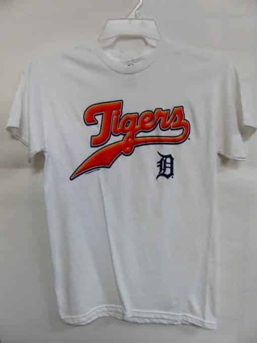 Detroit Tigers Majestic White T-Shirt Tee