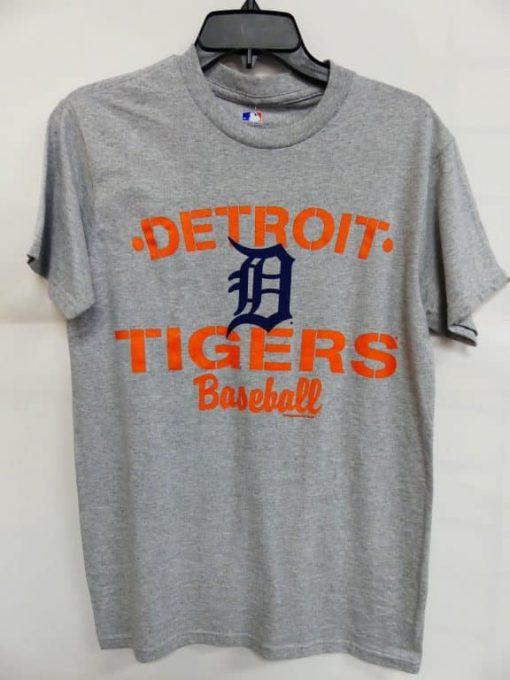 Detroit Tigers Gray Orange Baseball T-Shirt Tee