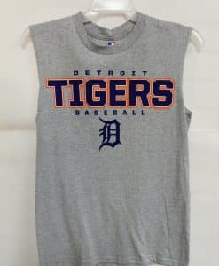 Detroit Tigers Gray Big Blue Tigers Tank Top