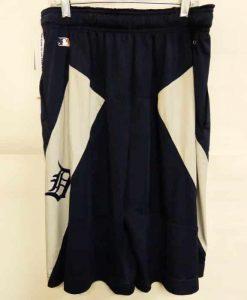 Detroit Tigers Dri Fit Navy White Shorts
