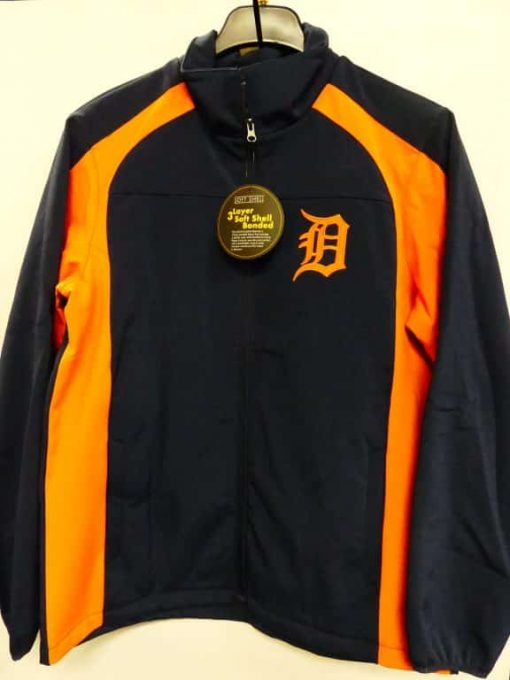 Detroit Tigers Road Navy Orange Full Zip Up Jacket