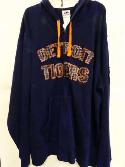 Detroit Tigers Navy Orange Tigers Full Zip Up Hoodie
