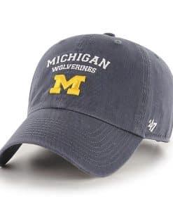 Michigan Wolverines 47 Brand Vintage Navy Fullback Clean Up Adjustable Hat