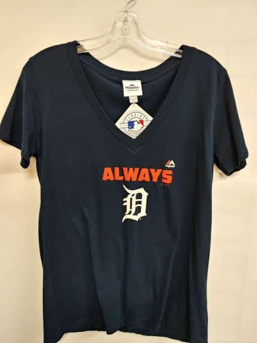 Detroit Tigers Women's Navy Tee
