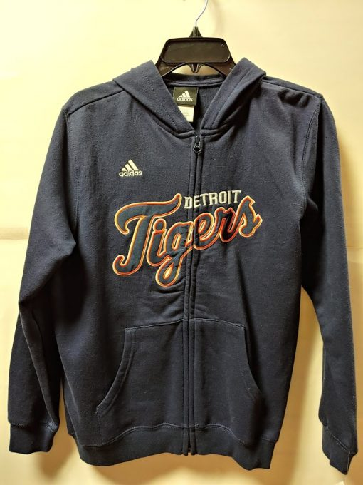 Detroit Tigers Youth Navy Zip Up Hoodie