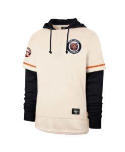 Detroit Tigers Men's 47 Brand Cooperstown Cream Shortstop Pullover Hoodie