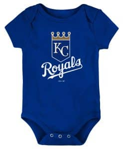 Kansas City Royals Baby Blue White Logo Onesie Creeper