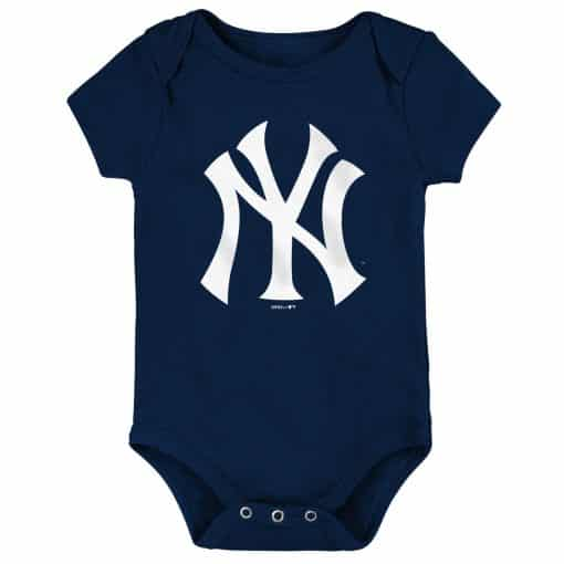 New York Yankees Baby Navy Blue White Logo Onesie Creeper