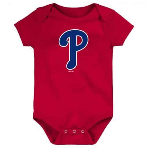 Philadelphia Phillies Baby Red Blue Logo Onesie Creeper